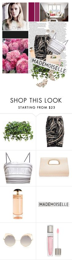"""""""vega"""" by thebiggerthefigure ❤ liked on Polyvore featuring ASOS, NIC+ZOE, Clover Canyon, Forever New, French Connection, Prada, Rosanna, Quay and Lancôme"""
