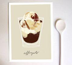 Coffee + ice cream = affogato