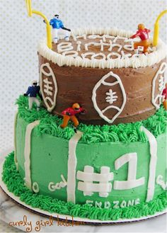 A two-tiered Football Cake