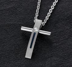 MODERNS - prívesok na retiazke - moderný dizajn - krížik - chirurgická oceľ Arrow Necklace, Jewelry, Jewlery, Jewerly, Schmuck, Jewels, Jewelery, Fine Jewelry, Jewel