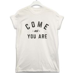 """The new range of #slogan tees from 8ball.co.uk. With over 60 designs to choose from make sure you always wear what you're thinking. """"Come as you are"""" £13.99"""
