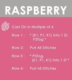 How to Knit the RASPBERRY STITCH