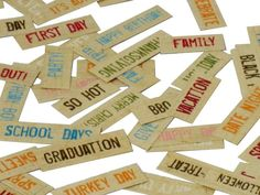Word Strip Printables to match the Life Documented Collection