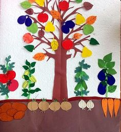 Nutrition for a better life Preschool Garden, Preschool Crafts, Crafts For Kids, Arts And Crafts, Growing Vegetables, Fruits And Vegetables, Vegetable Crafts, Art Projects, Projects To Try