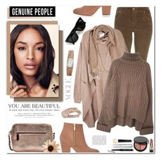 """Genuine People"" by anyasdesigns ❤ liked on Polyvore featuring dVb Victoria Beckham, FOSSIL, Burberry, Maryam Keyhani, Bobbi Brown Cosmetics, Lola Rose, H&M, women's clothing, women and female"