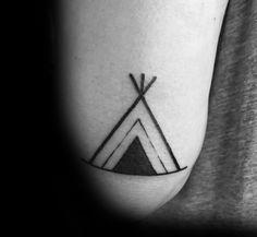 Simple Teepee Tattoo Image