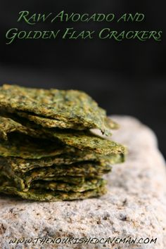 Raw Avocado and Golden Flax Crackers by The Nourished Caveman - Watch my fun video with easy instructions!