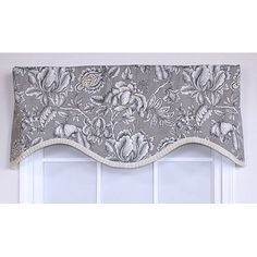 The simple elegance of the Iris Cornice Valance is embraced by its ruffled-trim silhouette. This style is the perfect choice to enhance any style room. Swag Curtains, Living Room Decor Curtains, Curtains With Blinds, Kitchen Curtains, Valances, Valance Window Treatments, Window Coverings, Small Entryways, Small Room Decor