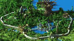 minecraft-forest-city