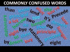 Informative article to help people with commonly confused words.