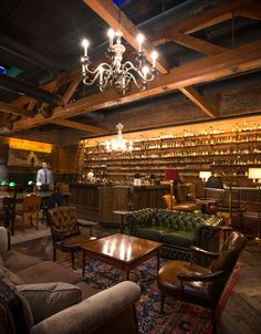 Multnomah Whiskey Library | Portland, Oregon. Order an Old-Fashioned from the roving bar cart. 1124 SW Alder St.