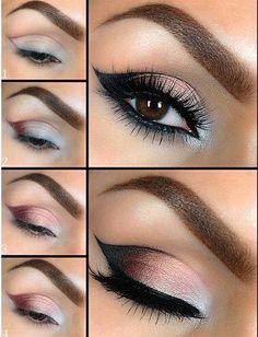 Maquillaje para ojos cafe.