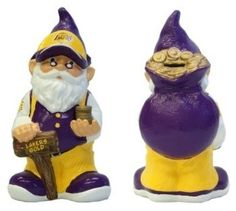 NBA Los Angeles Lakers Team Gnome Bank by Forever Collectibles.  21.60.  Measures 10 Inches 7ff6a6adb