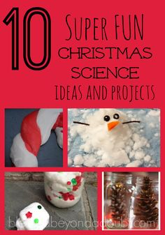Have FUN over the holiday with these Christmas Science Projects.