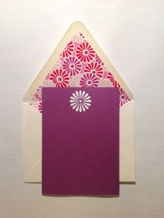 Hand Embossed Notecards with Coordinating by WarnerandCoe on Etsy, $24.00