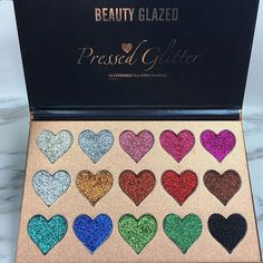 Beauty glazed makeup eyeshadow palette 18 colors the weather collection matte shimmer glitter pigment eye shadow Pressed Glitter Eyeshadow Palette, Makeup Eyeshadow Palette, Glitter Pigment, Smoky Eye Makeup, Shimmer Eyeshadow, Glitter Makeup, Glitter Injections, Beauty Glazed, Face And Body