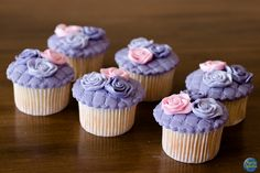Cupcake Decorado com Flores