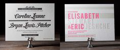 Awesome letter press invitations from Bella Figura