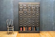Victorian Steel Apothecary Wall Cabinet