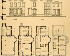 old victorian house plans - Bing images English Architecture, Plans Architecture, Victorian Architecture, Architecture Design, Victorian House Plans, Old Victorian Homes, 21st Century Homes, Architectural Section, London House