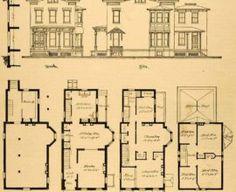 Print Victorian House Architectural Design Floor Plans