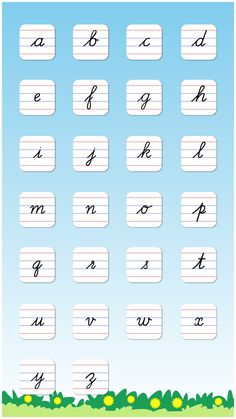 Cursive Writing Small Letters Free : Kids learn to write lowercase alphabets and shapes on the App Store Cursive Alphabet Printable, Cursive Letters Worksheet, Cursive Small Letters, Cursive Writing Practice Sheets, Teaching Cursive Writing, Learn To Write Cursive, Cursive Handwriting Practice, Learning To Write, Typography