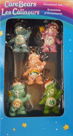Care Bears Ornaments Set Miniature American Greetings Set of 5 Christmas-set 1