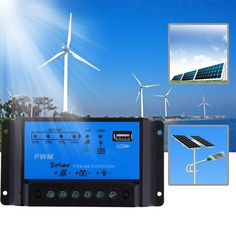 10A Solar Charge Controller Regulator Panel Battery 12V/24V PWM USB Output IY