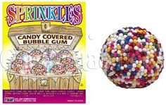 Sprinkles Gumballs Candy Covered Bubble Gum
