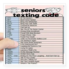 humorous texting codes for seniors this is just 2 funny rh pinterest com