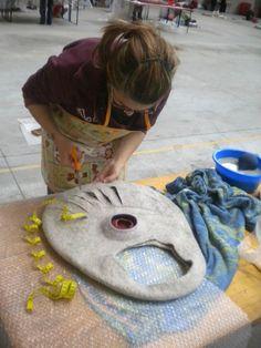 Infeltriscimi, feltro e tintura naturale: Feltrosa 2012