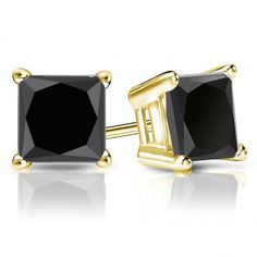 Great earrings square deals diamond black white