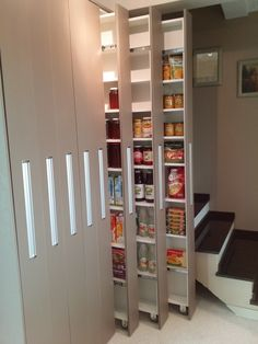 Kitchen Pantry Storage, Kitchen Pantry Design, Cupboard Design, Modern Kitchen Design, Home Decor Kitchen, Interior Design Kitchen, Home Kitchens, Home Decor Furniture, Furniture Design