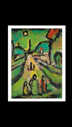 Georges Rouault - Paysage biblique, c. 1949-1956 - Oil on paper mounted on canvas - 34 x 25 cm