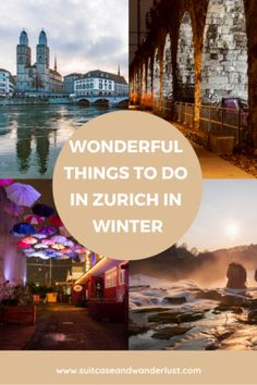 Planning a trip to Zurich in winter? Pack warm clothes and look forward to enjoying a great time in a beautiful city. Here are the best things to do in Zurich in winter. Travel Route, New Travel, Winter Travel, Travel With Kids, Places To Travel, Winter Europe, Travel Tips, Travel Destinations, Backpack Europe Route