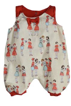 The Peggie Baby Onesie by Shirley & Victor in Schoolyard Print. Please use coupon code NewProducts to receive 15% off these items. To receive the discount, please place your order by midnight Monday, April 27, 2015