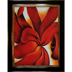 I pinned this Red Cannas by Georgia O'Keeffe Framed Wall Art from the Palettes That Pop: Indian Summer event at Joss and Main!