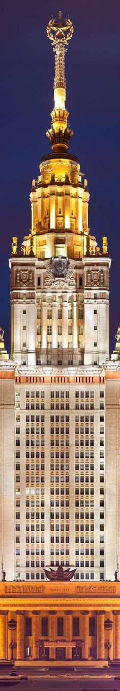 """ Moscow State Univers amazing architecture design """