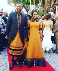 Mandla Mandela and his wife at #SONA2016 dressed by Bongiwe Walaza  So hot