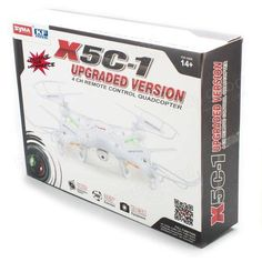 Syma X5C X5C-1 New Version Explorers 2.4G 4CH RC Quadcopter Mode 2 With Camera - US$49.99