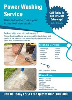 Templates: Search for TemplateCloud Pressure Washing Tips, Pressure Washing Business, Best Pressure Washer, Pressure Washing Services, Flyer Design Templates, Flyer Template, Quote Template, Templates Free, Power Washing Services