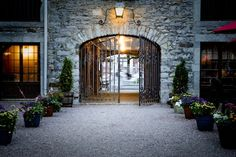 The Courtyard at Gibbys in Old Montreal. This is my favourite restaurant. Their steak is better than RC or The Keg.