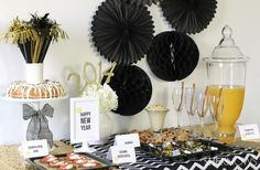 """new year's eve party tables settings 