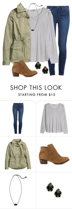 """""""I just need answers"""" by madelynprice ❤ liked on Polyvore featuring Paige Denim, H&M, Jessica Simpson and Kendra Scott"""