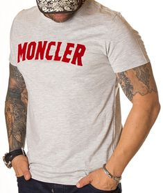 Moncler Tricou Short Sleeve - Gri   Tricouri cu guler rotund   Tricouri   Brande Moncler, Short, Model, Mens Tops, Fashion, Moda, Fashion Styles, Scale Model