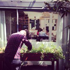 Chef taking care of the veggies garden at #hotelpulitzerbarcelona