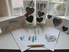 Thank You Cards from the Heart, upcycling kids' art