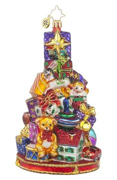 Christopher Radko 'Glorious Gift Stack' Ornament available at #Nordstrom