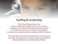 Orchard Human Services, Inc - Children's Services: An Attachment-Based M...