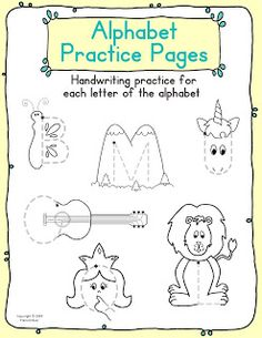 Great letter activities! These are perfect for Kindergarten handwriting practice